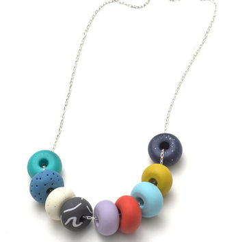Crystal 9 bead necklace   Emily Green