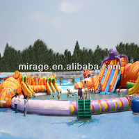 Source inflatable swimming pool with water slide-- Fantasy ocean pool on m.alibaba.com