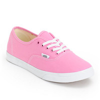 Vans Girls Authentic Lo Pro Rosebloom Pink & True White Shoe