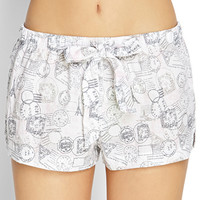 Postage Stamp Sleep Shorts