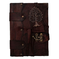 Tree Of Life Cast On A Leather Journal / Notebook / Diary / Sketchbook / Leatherbound