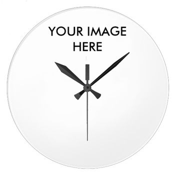 Personalized Monogram Large Round Wall Clock