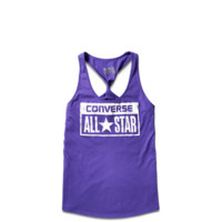 Womens Jungle License Plate Tank Top - Converse