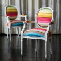 A Royal Display of Colors: Louis XV Upholstered Chair