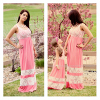 Mommy Summer Bliss Maxi In Soft Pink - Ryleigh Rue Clothing by MVB