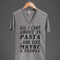ALL ABOUT PASTA VNECK - glamfoxx.com - Skreened T-shirts, Organic Shirts, Hoodies, Kids Tees, Baby One-Pieces and Tote Bags