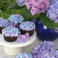 hydrangea cupcakes