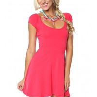 Cutout & About Dress Coral