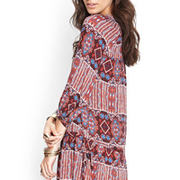 Kaleidoscope Drop Waist Dress