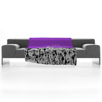 DENY Designs Home Accessories | Bird Ave Los Angeles Purple Fleece Throw Blanket