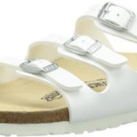 Birkenstock Sandals ''Florida'' from Birko-Flor in White with a regular insole