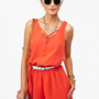 Lattice Romper - Tangerine in What's New at Nasty Gal