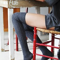 Free People Womens Speckled Slouch Tall Sock -