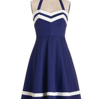 Bea & Dot Nautical Mid-length Halter A-line Georgia Gallivanting Dress