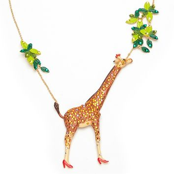 Jeweled Giraffe Necklace