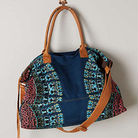 Radial Weekender by Cleobella Blue Motif One Size Bags