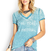 Mermaid Burnout Jersey Tee