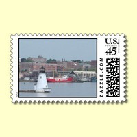 Palmer Island Light, New Bedford Postage Stamps