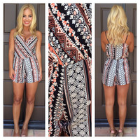 Moroccan Summer Paisley Romper