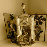 Edgar Allan Poe Altered Book Art by Raidersofthelostart on Etsy