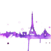 Watercolor Travel Illustration A Purple by JessicaIllustration