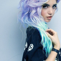 PASTEL FANTASY // 2 Aqua Blue and Lavender by WarriorsOfCulture