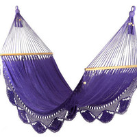 Purple Hammock Great for garden by veronicacolindres on Etsy