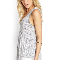 Floral Jersey Tank Top