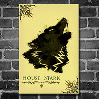 Game of Thrones poster movie poster minimalist poster by Harshness
