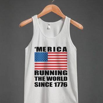 merica running the world tank top-jh - glamfoxx.com - Skreened T-shirts, Organic Shirts, Hoodies, Kids Tees, Baby One-Pieces and Tote Bags