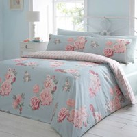 Debenhams Blue 'spring floral' bedding set- at Debenhams Mobile