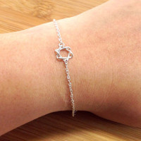 Star of David Bracelet,, Sterling Silver Bracelet, Petite Magen David Bracelet,, Tiny Silver Star David Bracelet,, Dainty Bracelet,