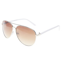 Thin Frame Aviator Sunglasses | Wet Seal