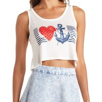 Anchor Love Graphic Swing Crop Top