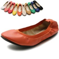 ollio Womens Shoes Ballet Comfort Cute Multi Coloed Flats