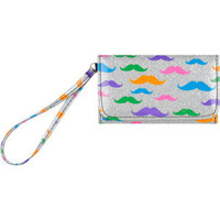 Mustache Glitter Wallet | Tillys.com