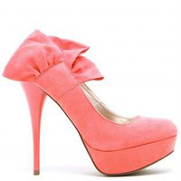 Coral Pumps / High Heels - Sweet Girl Coral Heels - | UsTrendy
