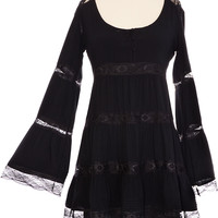 Black Belle Lace Tunic Dress