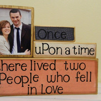 Personalized wedding gift with photos and quote by FayesAttic11