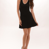 Casual with Flare Dress - Black