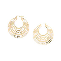Aztec Filigree Hoop Earrings
