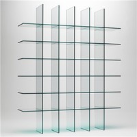 Glass Shelves 1 Bookshelf - Glas Italia - Switch Modern