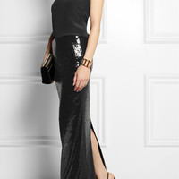 Donna Karan - Sequined stretch maxi skirt