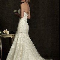 Buy Elegant Exquisite Organza Mermaid Strapless Wedding Dress