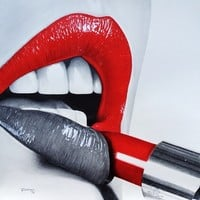 Red Lipstick Art Print by Roman0701 | Society6
