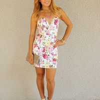 Floral 'Hamptons' Bodycon Dress
