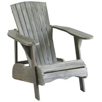 Safavieh Outdoor Living Vista Ash Grey Acacia Wood Adirondack Chair