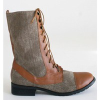 Two Toned Tan Boots
