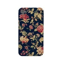 Elegant Vintage Floral Rose iPhone Case Iphone 4 Case-mate Case from Zazzle.com
