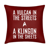 VULCAN IN THE STREETS PILLOW